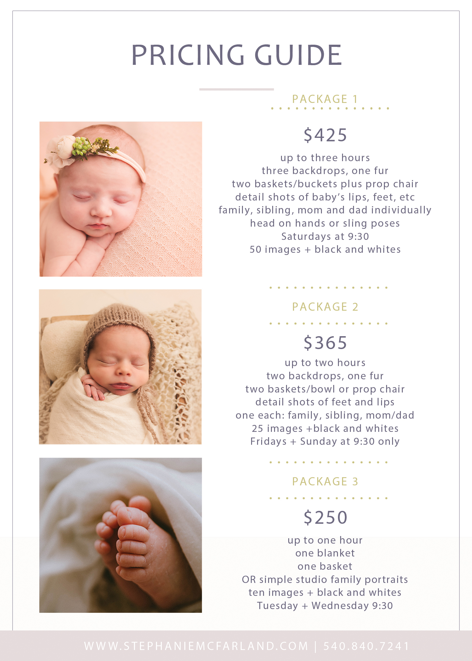 Fredericksburg va newborn photographer stephanie mcfarland photography newborn photography packages
